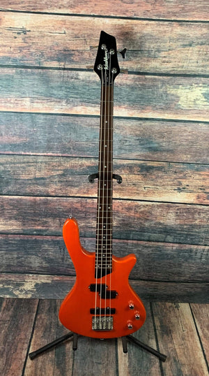 washburn Electric Bass Used Washburn T14 4 String Electric Bass with Gig Bag- Orange