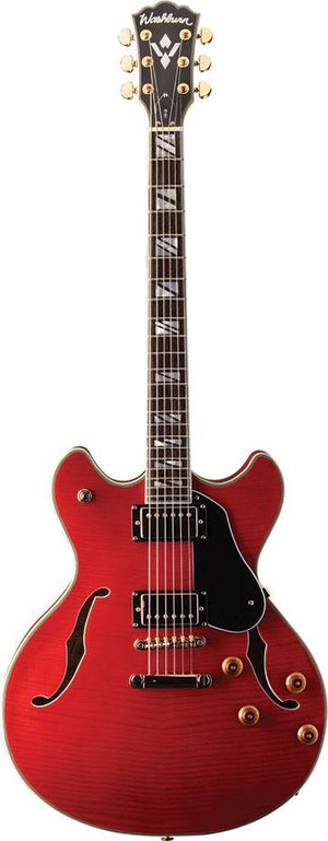 washburn Electric Guitar Washburn HB35WRK-O Semi Hollow Double Cutaway Electric Guitar