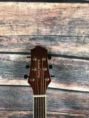 Used Wood Song Left Handed D-NA Dreadnought Acoustic Guitar with Gig Bag