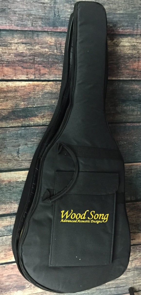 Wood Song Acoustic Guitar Wood Song Left Handed DCE Acoustic Electric Cutaway Guitar - Black