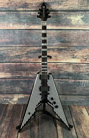 Wylde Audio Electric Guitar Used Wylde Audio Viking V Pinstripe Electric Guitar with Hard Shell Case