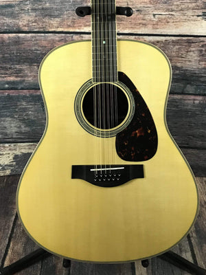 Used Yamaha LL16-12 Jumbo 12 String Acoustic Electric Guitar with Case
