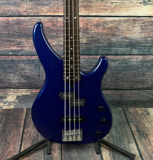 Yamaha Electric Bass Used Yamaha TRBX170 4 String Electric Bass with Gig Bag- Blue