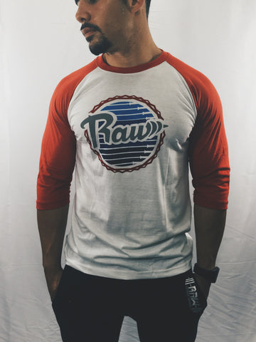 "Men's Raw ""Classic"" Baseball Tee , T-Shirt - Raw Fitness Apparel, Raw Fitness Apparel  - 1"