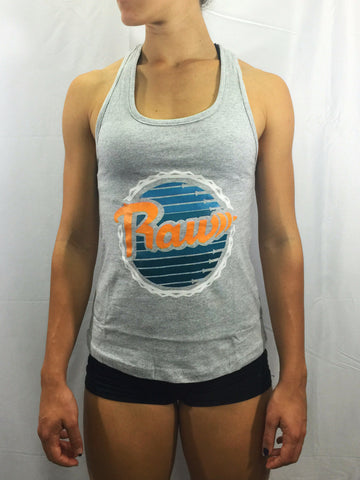 "Women's ""Dolphins"" Racerback Tank , T-Shirt - Raw Fitness Apparel, Raw Fitness Apparel  - 1"