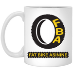 FBA Logo 11 oz. Ceramic Coffee Mug | Fat Bike Asinine