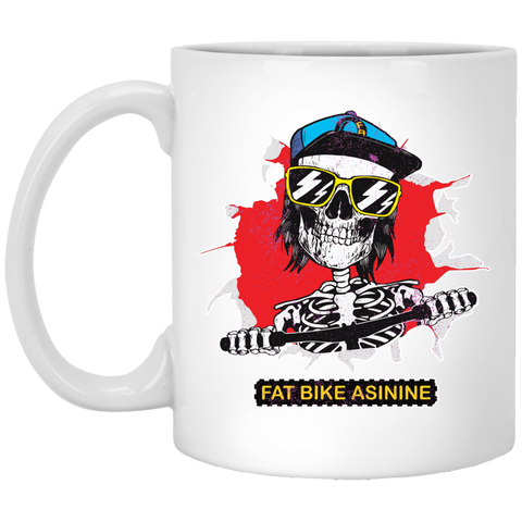 Fat Bike Skelly 11 oz. Ceramic Coffee Mug | Fat Bike Asinine