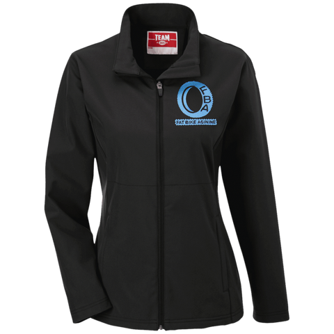 Women's FBA Ice Blue Logo Soft Shell Weatherproof Jacket | Fat Bike Asinine