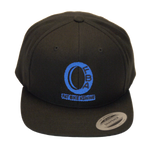 FBA Ice Blue Logo Flat Bill Snapback Hat | Fat Bike Asinine