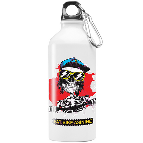 Fat Bike Skelly 20 oz Stainless Steel Water Bottle-Fat BIke Asinine