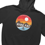 Snowy Ride Fat Bikes Hoodie | Fat Bike Asinine