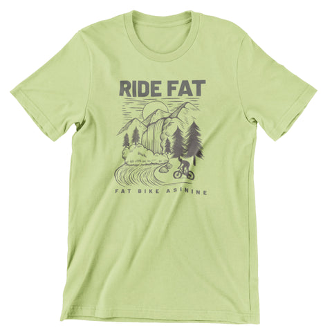 Vintage Fat Bike Waterfall T-shirt | Fat Bike Asinine
