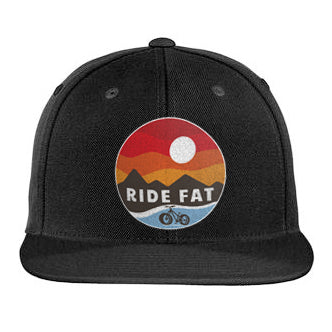 Ride Fat Winter Flat Bill Snapback Hat | Fat Bike Asinine