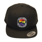 Rollin' Fatties Retro Flat Bill Snapback Hat | Fat Bike Asinine