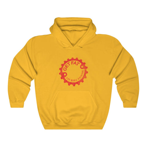 Get Fat Cracked Vintage Red Hoodie | Fat Bike Asinine
