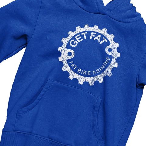 Get Fat Cracked Vintage Hoodie | Fat Bike Asinine