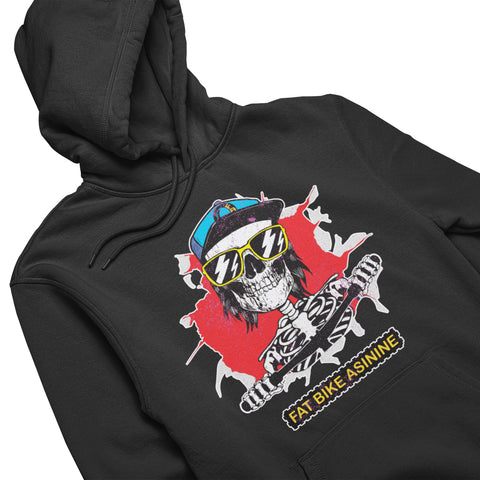 Fat Bike Skelly Hoodie | Fat Bike Asinine