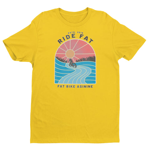 Groomed Ride Fat Bike T-shirt | Fat Bike Asinine