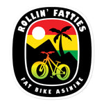 Rollin' Fatties Large Sticker | Fat Bike Asinine