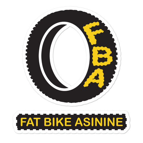 FBA Logo Large Split Sticker | Fat Bike Asinine