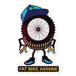 Fat Tire Eye Large Sticker | Fat Bike Asinine