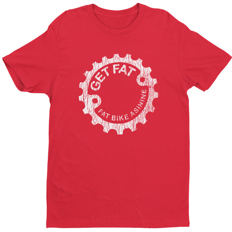 Get Fat Cracked Vintage T-shirt | Fat Bike Asinine