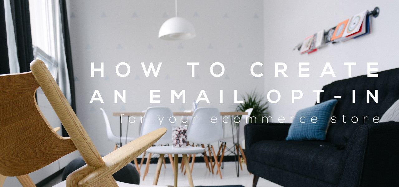 how to build an ecommerce email opt in bonus