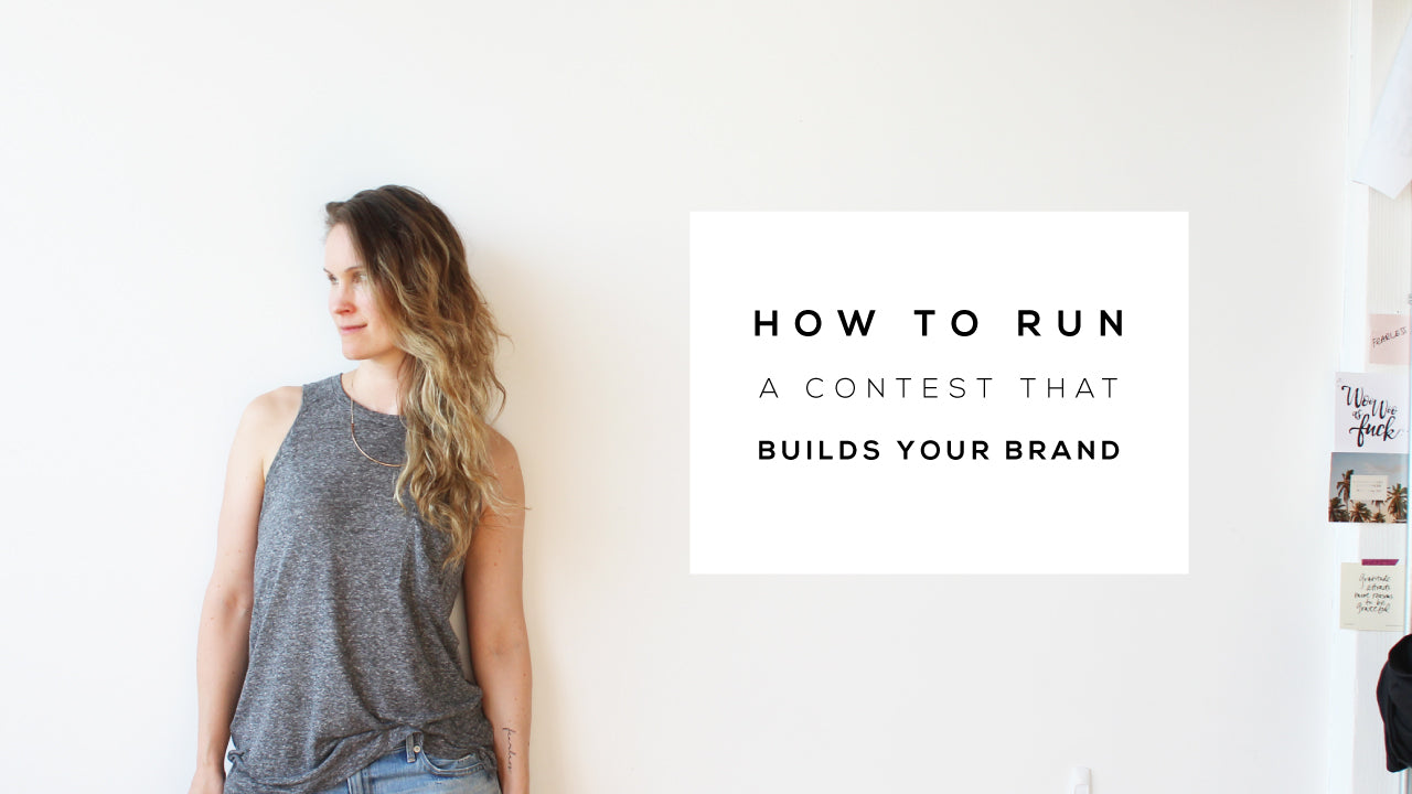 how to run a contest for your brand