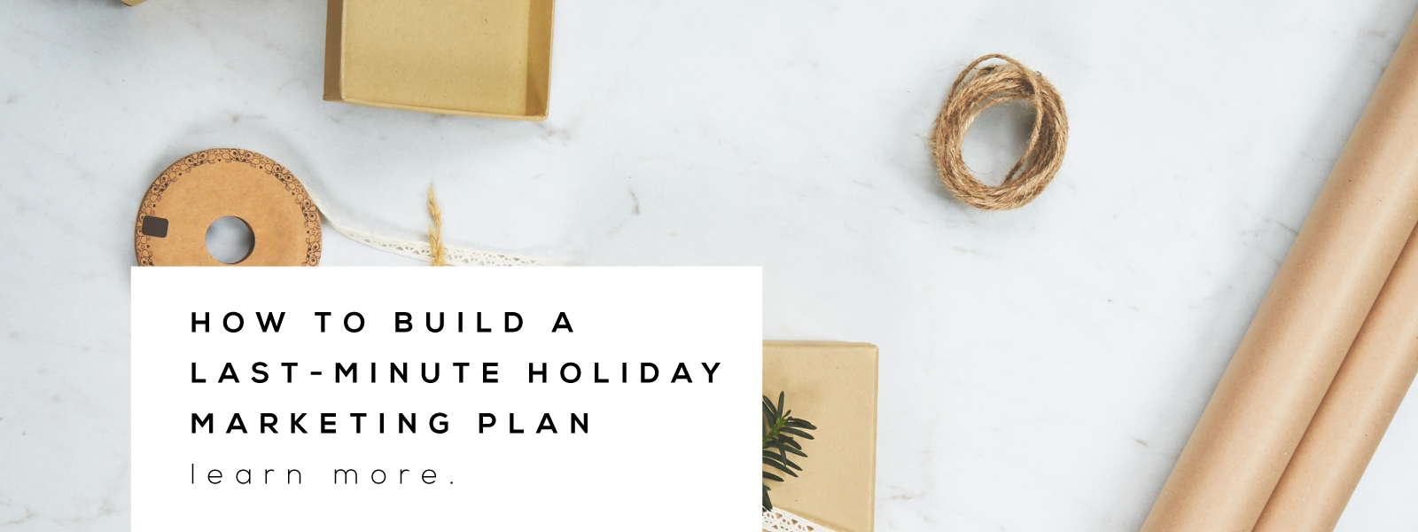 holiday marketing plan for makers