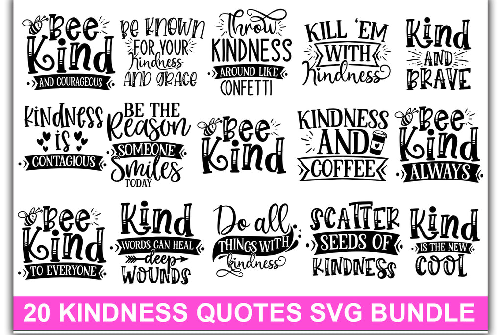 Kindness SVG Big Bundle-vol-I - svgbundle.net