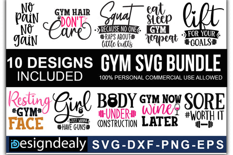 Gym Quotes SVG Bundle - svgbundle.net