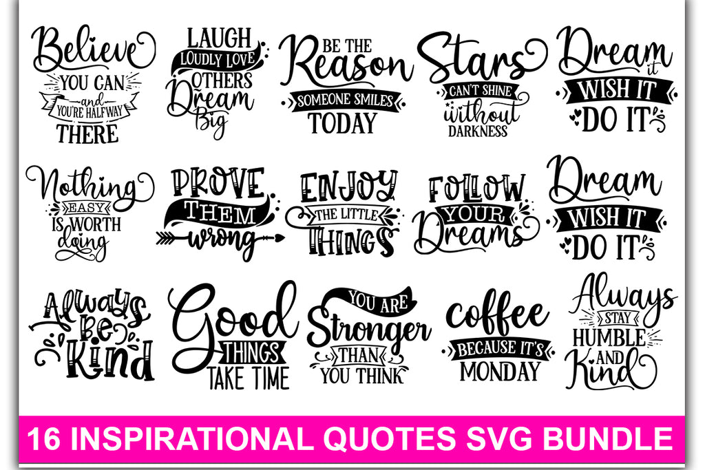 Inspirational SVG Bundle - svgbundle.net