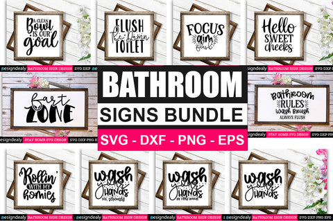 Bathroom SVG Bundle - svgbundle.net