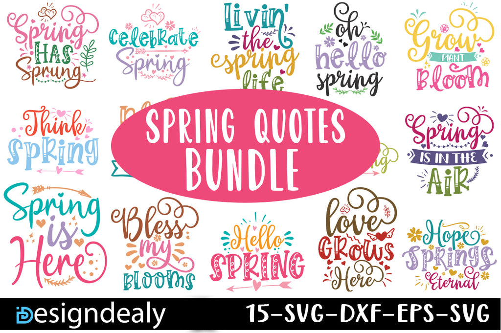 Spring SVG Quotes Bundle - svgbundle.net