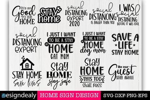 Stay Home SVG Bundle-III - svgbundle.net