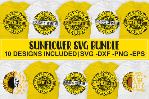 Sunflower SVG Bundle - svgbundle.net