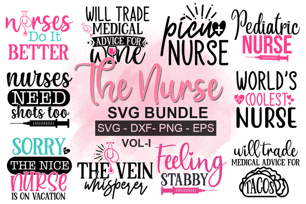 The Nurse SVG Bundle - svgbundle.net