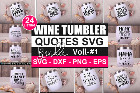 Wine Tumbler SVG Big Bundle - svgbundle.net