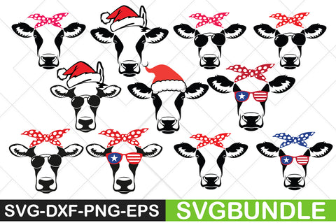 Cow With Bandana svg Bundle - svgbundle.net