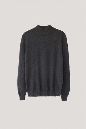 The High-Neck Cashmere - Anthracite Gray