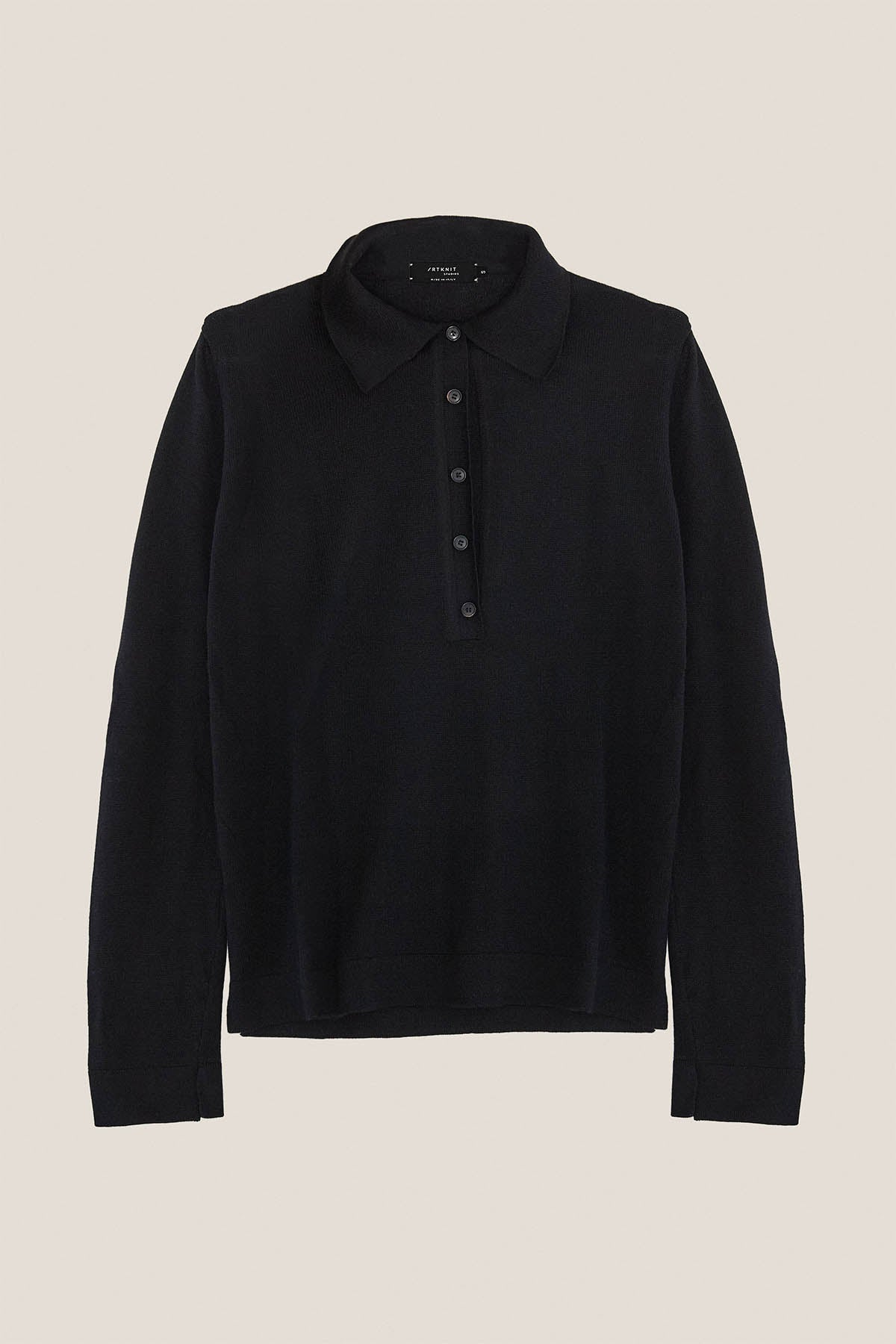 The Merino Knit Polo - Black