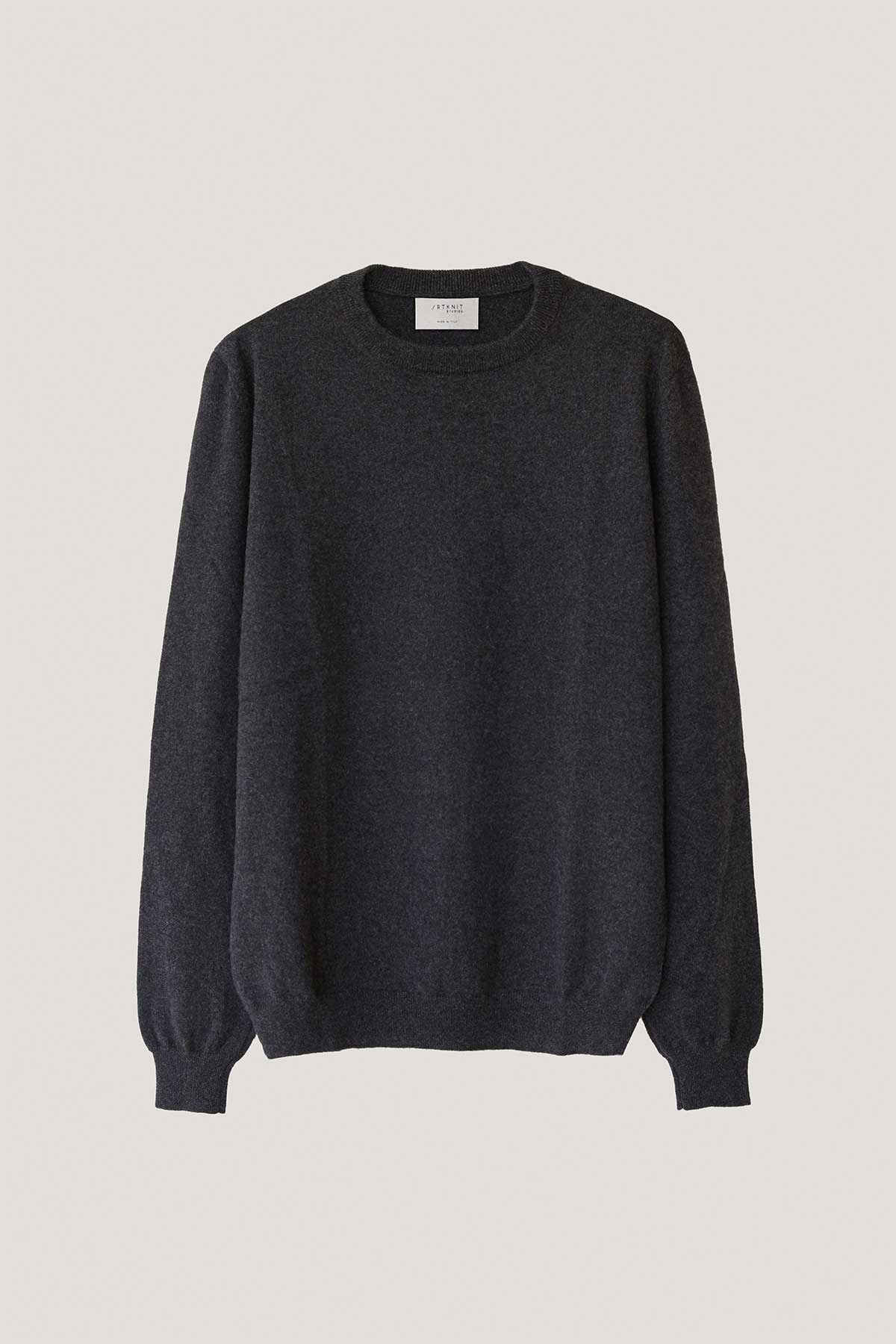 The Round-Neck Cashmere - Anthracite Grey