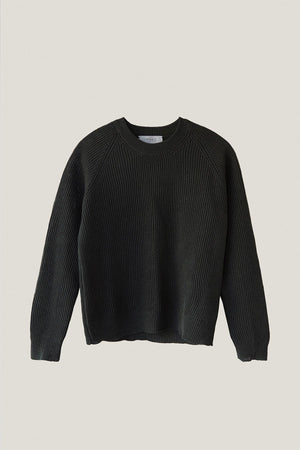 The Linen Cotton Crew-Neck Sweater - Military Green