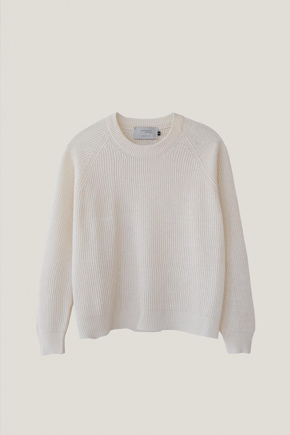 The Linen Cotton Crew-Neck Sweater - Ivory