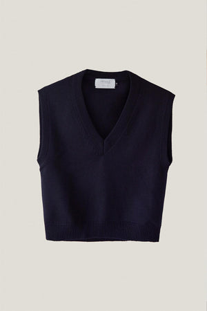 The Merino Wool Vest - Blue Navy