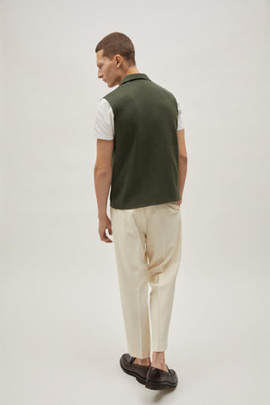 The Organic Cotton Vest - Green