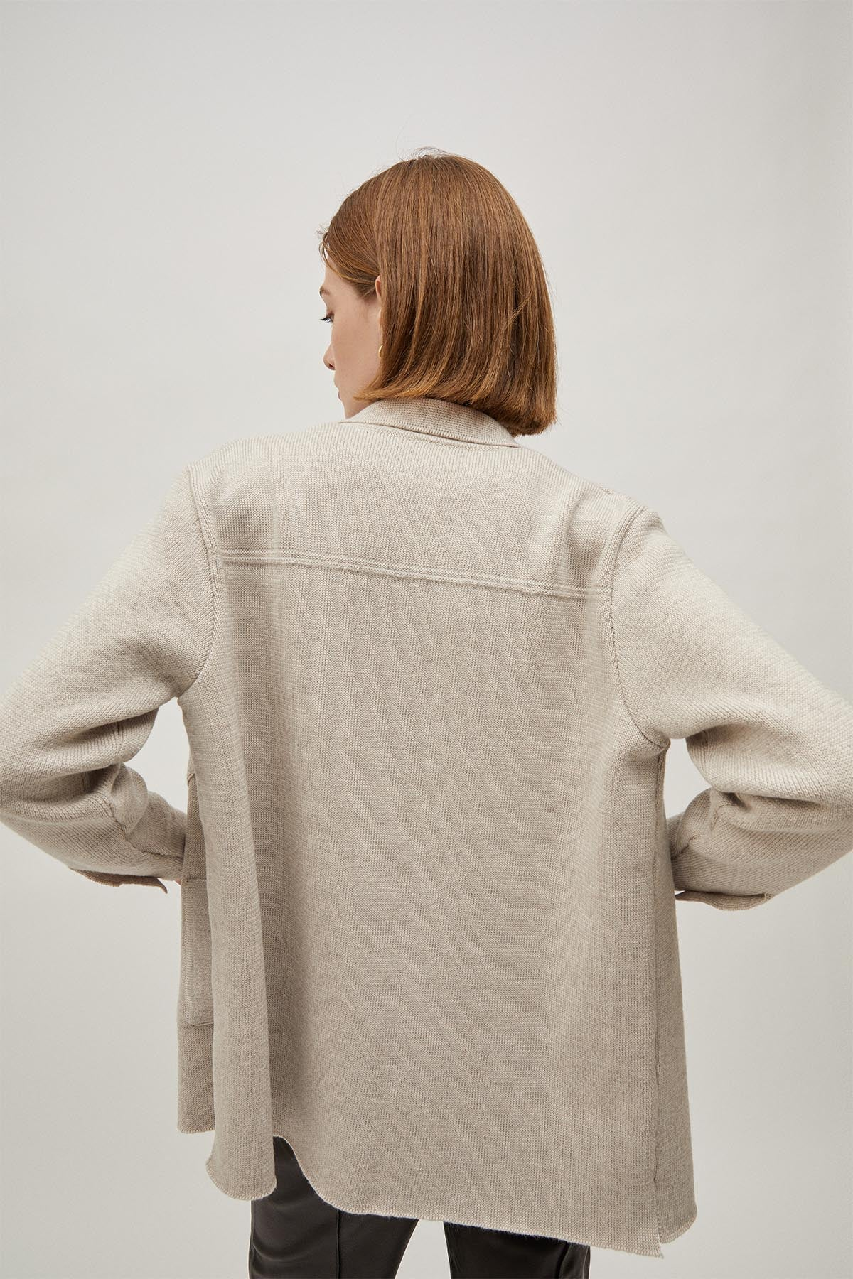The Wool Overshirt - Pearl