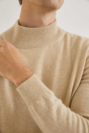 The High-Neck Cashmere - Cream