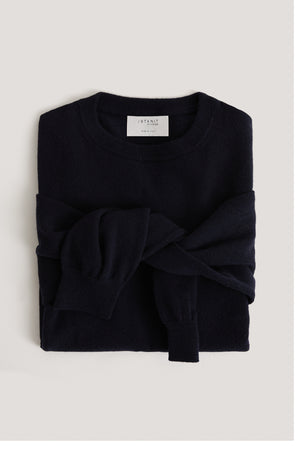 The Round-Neck Cashmere - Blue