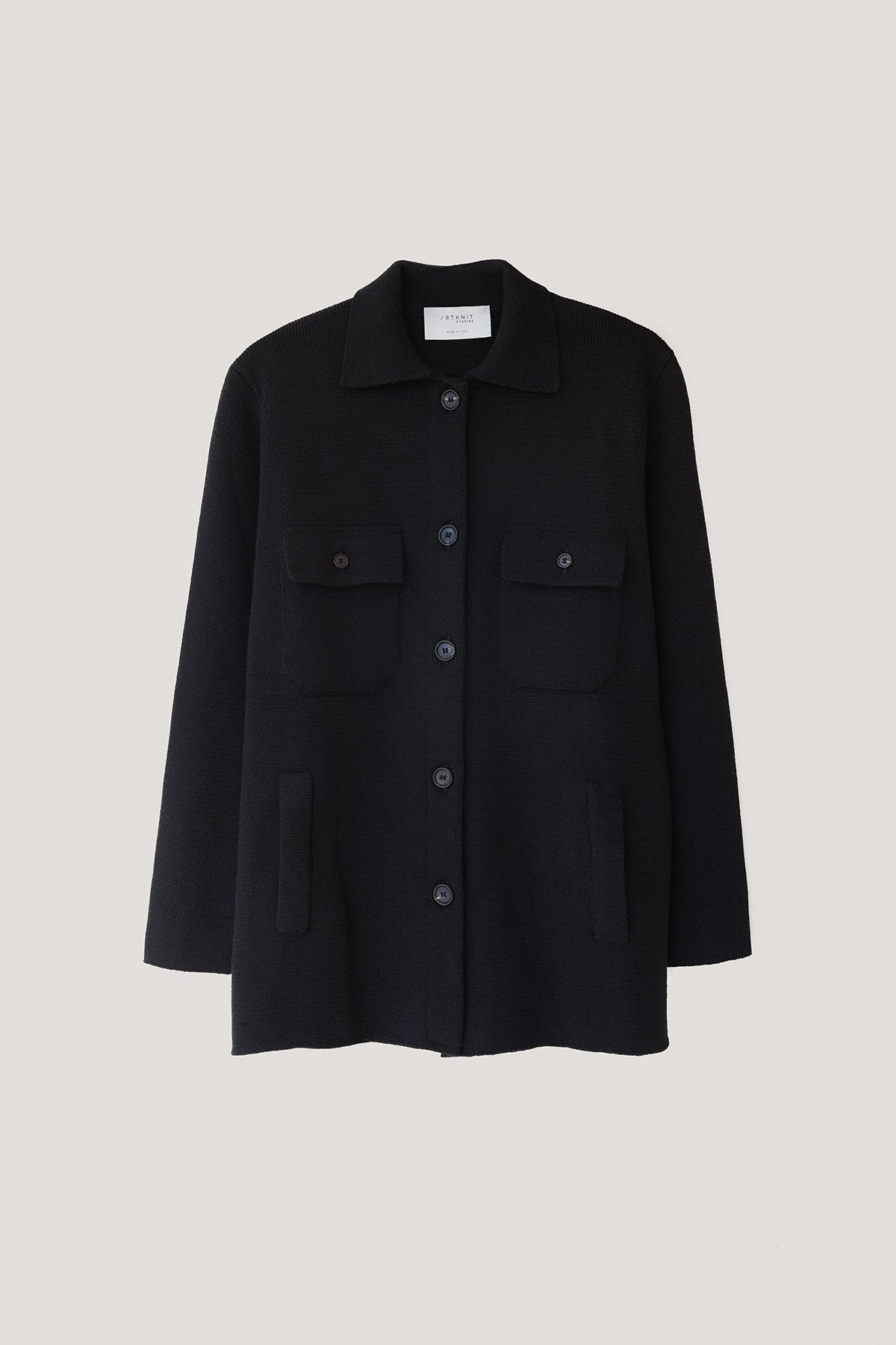 The Wool Overshirt - Black